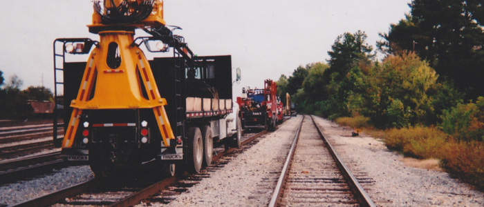Railroad removal crews