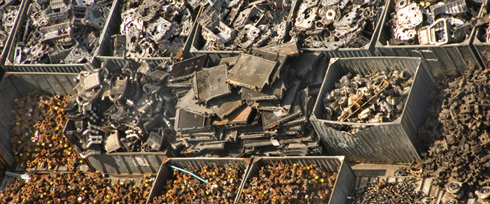 Scrap Sorting on recycling sorting facility